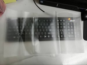Transparent PVC Plastic Book Cover Adjustable Book